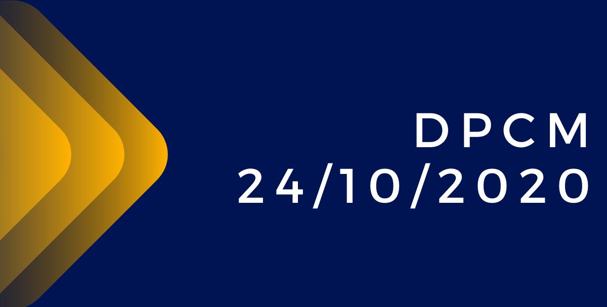 DPCM del 24_10_2020 in vigore fino al 24 novembre