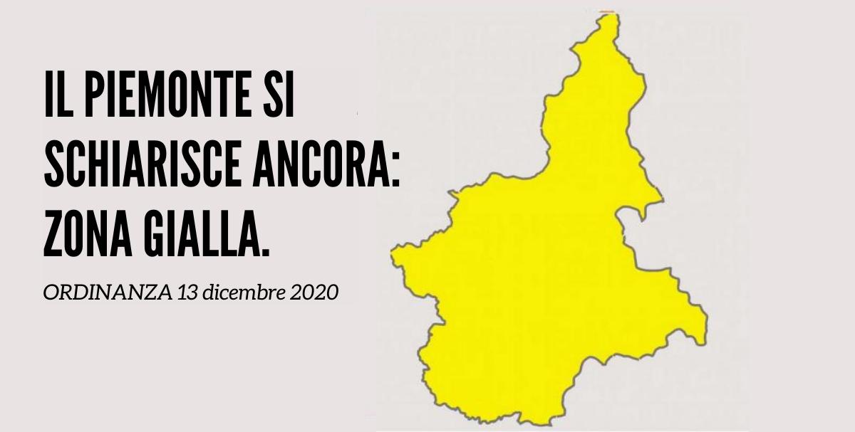 Piemonte in zona gialla